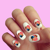 I Love Lucy Vintage Sitcom   - Nail Art - Nail Decals