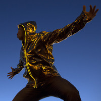 Light Up Electro Hoodie - Gold