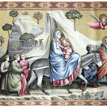Flight into Egypt Tapestry Wall Art Hanging