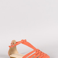 Danzo-01 Strappy Round Toe Flat Sandal
