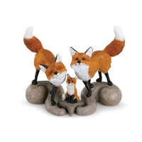 Fox Family Figurine