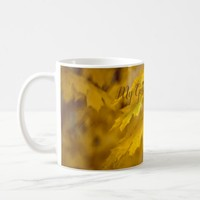 Yellow autumn maple leaves. Add you text or name. Coffee Mug