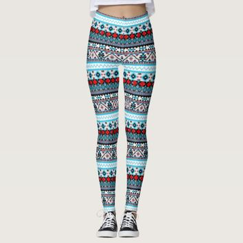 Cute colorful navajo patterns leggings