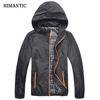 New Men Hooded Thin Jackets Male Hoodie Windbreaker Solid color Jackets Men Spring Autumn Sunscreen Fashion Coat