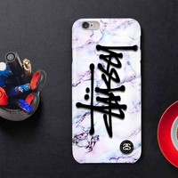 Hot Stussy White Marble For iPhone 4/4s,5/5s.6/6s,6/6s+ Print On Hard Plastic 3D