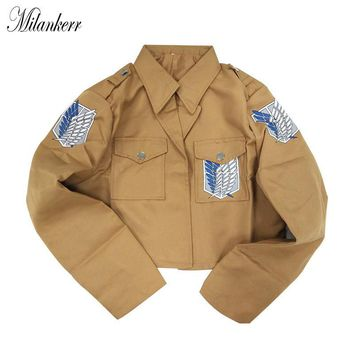 Cool Attack on Titan 2017 Japan Anime  Jacket Cosplay Costume Legion Coat Halloween Party Eren Levi Jacket Clothing AT_90_11