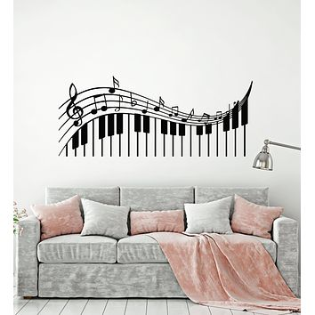 Vinyl Wall Decal Treble Clef Musical Keys Music Piano Notes Pianoforte Stickers Mural (g1496)