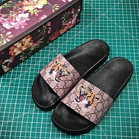 Gucci GG Supreme Tiger Slide Sandal #1 - Sale