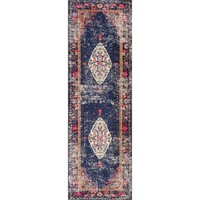 nuLOOM Traditional Fading Oriental Medallion Navy Runner Rug (2'6 x 8) | Overstock.com Shopping - The Best Deals on Runner Rugs