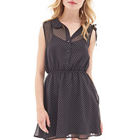 FOREVER 21 Polka Dot Chiffon Dress