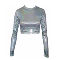 Metallic Grunge Crop