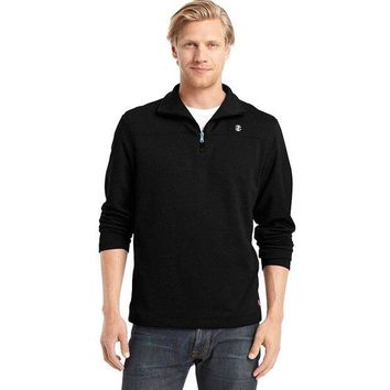 ONETOW IZOD Solid Quarter-Zip Fleece Pullover - Big & Tall, Size: