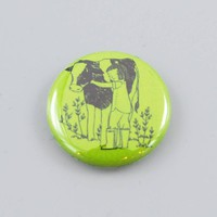 Cow Hugger Button - The Herbivore Clothing Co.