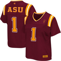 Arizona State Sun Devils Women's Blitz Football Jersey - Maroon