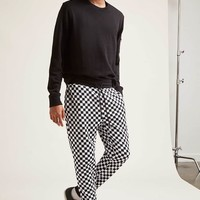 Checkered French Terry Joggers