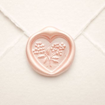 Heart Wax Seal, wedding seal, Vintage Shabby Elegance Wedding Invitation Seals, Romantic Envelope Sticker, Heart Decal for Love Scrapbook