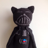 Star Wars Darth Vader Crochet Amigurumi Cat Doll