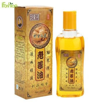 DCCKWQA 230ML Pure Ginger Oil Natural Herbal Massage Essential Oil for SPA Full Body Relaxation Scrape Massage Therapy