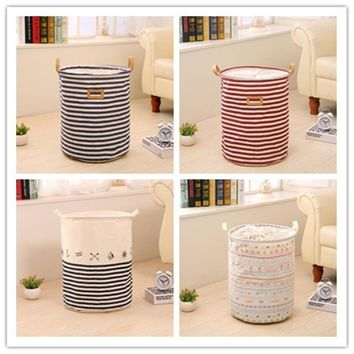 Bathroom sundries Laundry basket foldable laundry basket large covered waterproof clothes toys clothing Storage barrels
