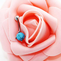 Belly ring,Belly button jewelry,Turquoise belly button rings,Friendship piercing bellyring