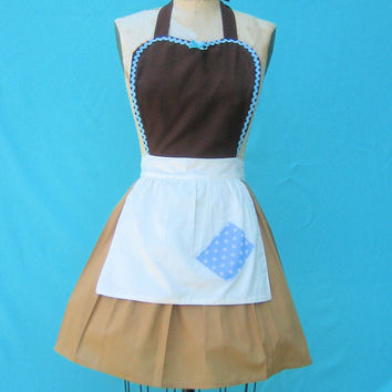 costume apron CINDERELLA  Work APRON  Princess style  womens full halloween Apron from Lover Dovers