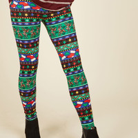 Swell on a Holiday Leggings in Cheer | Mod Retro Vintage Pants | ModCloth.com