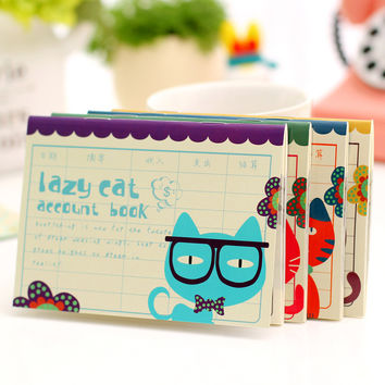 Cute Cat Planner Cute Pocket Mini Small Personal Diary Note School Notebooks And Journals Paper Books School Office Supplies
