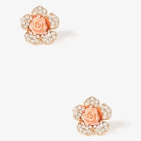 Rosette Floral Earrings
