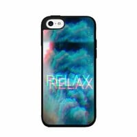 BleuReign(TM) Relax with Smoke Clouds - Plastic Phone Case Back Cover (iPhone 5c)