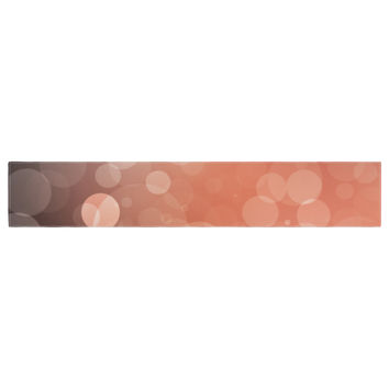 "KESS Original ""Sunset"" Orange Bokeh Table Runner"