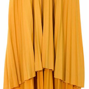 Yellow Flair Pleated Skirt