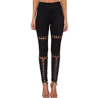 Suede Lace Up Trousers