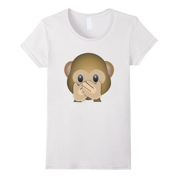 Emoji Shirt - Funny Monkey Mouth Shut