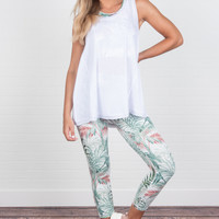 Head For The Tropics Leggings, Green