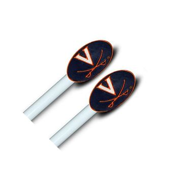 NCAA Virginia Cavaliers Drapery-Curtain Finials Rod Set