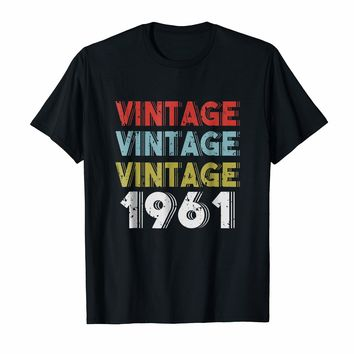Retro Vintage Born In 1961 - 57th Birthday Gift