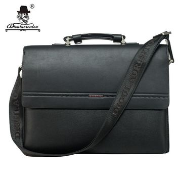Men's Leather Flap-over Briefcase