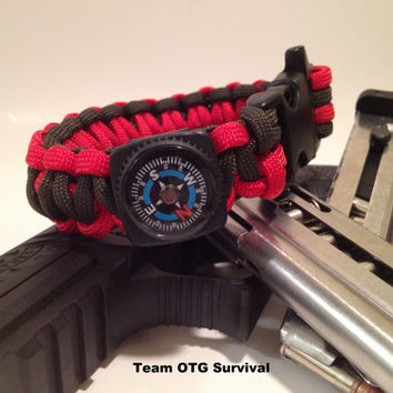 Survival Bracelet Deluxe Fire Starter Stuffed by TeamOTGsurvival