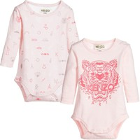 Baby Girls Pink Romper 2-Piece Gift Set