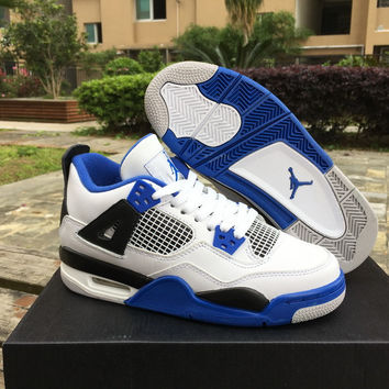 "Air Jordan 4 GS ""Motorsport"" Unisex Leather Basketball Shoe"