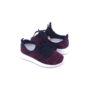 Red Fabric Sneaker for Baby