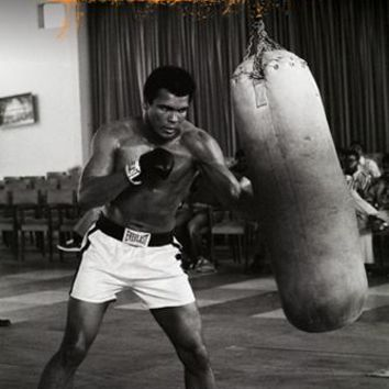Muhammad Ali: Punchbag Unknown Art Print