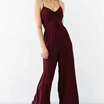 Ecote Open-Back Crinkle Wide-Leg