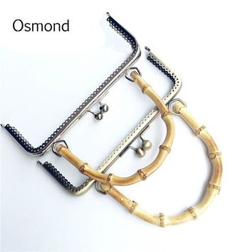 Osmond 20CM 25CM Metal Purse Frame Clasp With Handle DIY Bag Accessories Parts Wallet Ball Carved Kiss Clasp Lock Silver Bronze