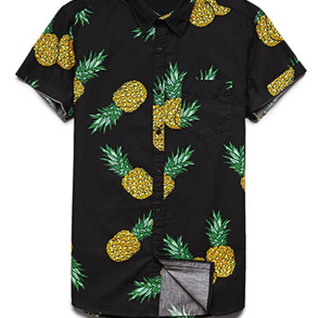 Pineapple Print Cotton Shirt