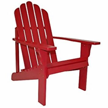 Shine Company Marina Adirondack Chair, Chili Pepper