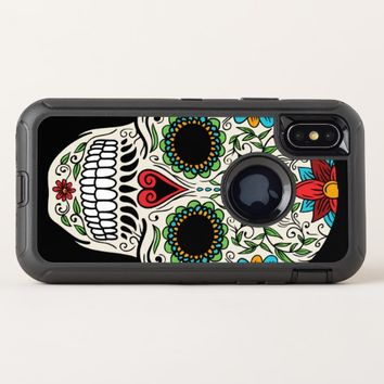 Day of the Dead Sugar Skull Apple iPhone X Case
