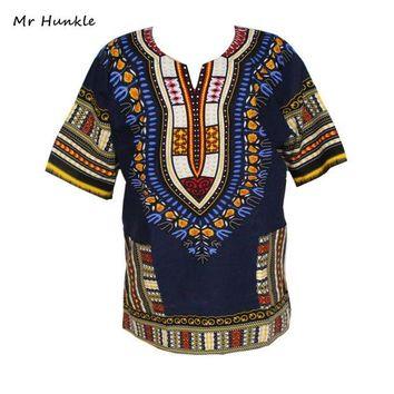ONETOW Fashion Band Mr Hunkle Design 100% Cotton New Arrival African Print Dashiki Clothing Short Sleeve Dashiki T-shirt For Men