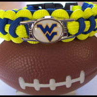 WV Mountaineers Paracord Bracelet Custom Made
