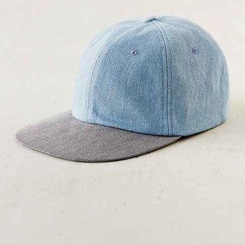 Rosin Washed Denim Baseball Hat- Vintage Denim